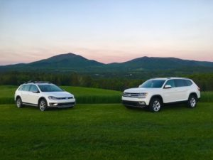 The New Volkswagen Alltrack and Atlas at the Wildflower Inn Experience Event