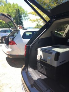Keeping drink cold in the Dometic in-car refrigerators